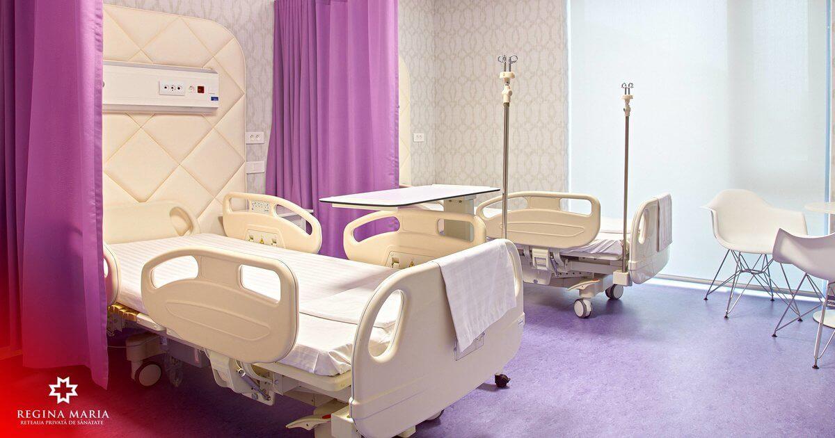 Salon din cadrul noului spital REGINA MARIA din Cluj