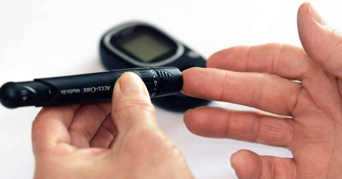 Ilustrarea unui test de glicemie