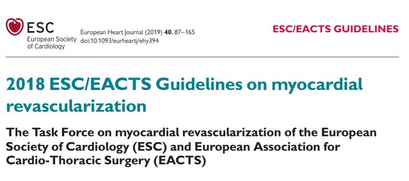 Ghidul de revascularizare miocardică ESC/EACTS 2018