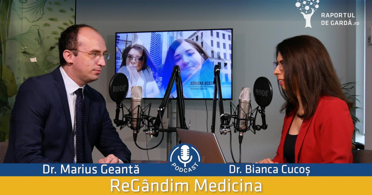 Podcast Raportuldegardă: Biomarkerii în cancerul pulmonar. Dr. Marius Geantă și Dr. Bianca Cucoș