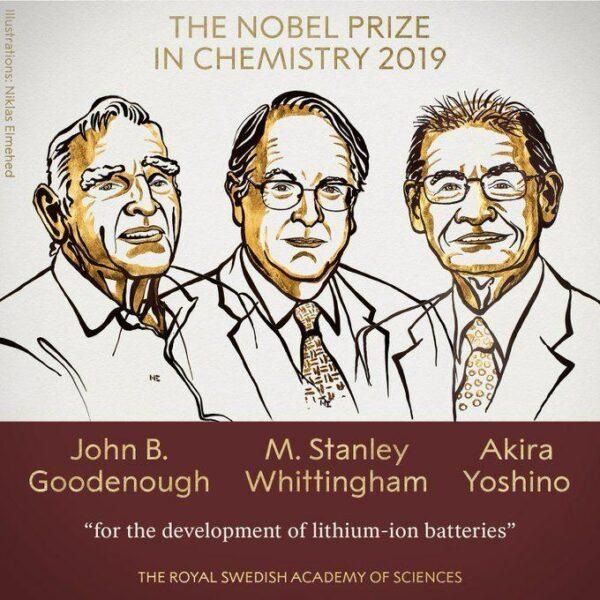laureați premiu nobel chimie 2019
