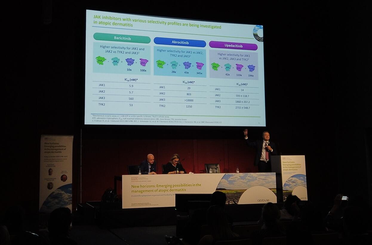 Simpozionul dedicat dermatitei atopice, din cadrul Congresului EADV 2019, Madrid.