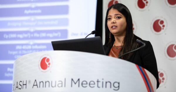 Dr Deepu Madduri, in cadrul ASH19, despre rezultatele Studiului CARTITUDE-1, care a inclus pacienti cu mielom multiplu recidivant sau refractar, care au primit terapie celulara CAR-T anti-BCMA
