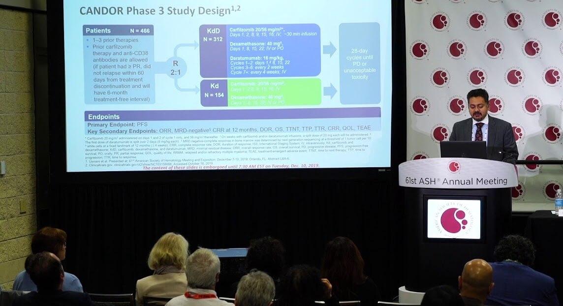 Prezentarea rezultatelor studiului CANDOR in cadrul ASH 2019