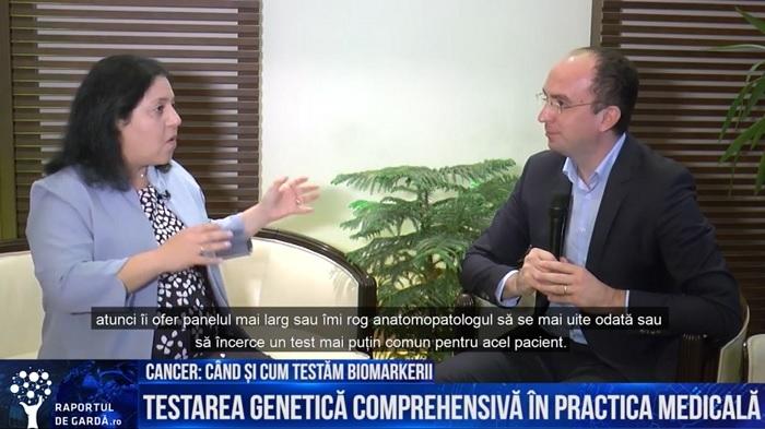 Dr. Mor Moscovitz, medic oncolog specializat în tratamentul cancerului pulmonar si gazda emisiunii Unu-la-unu, Dr. Marius Geantă