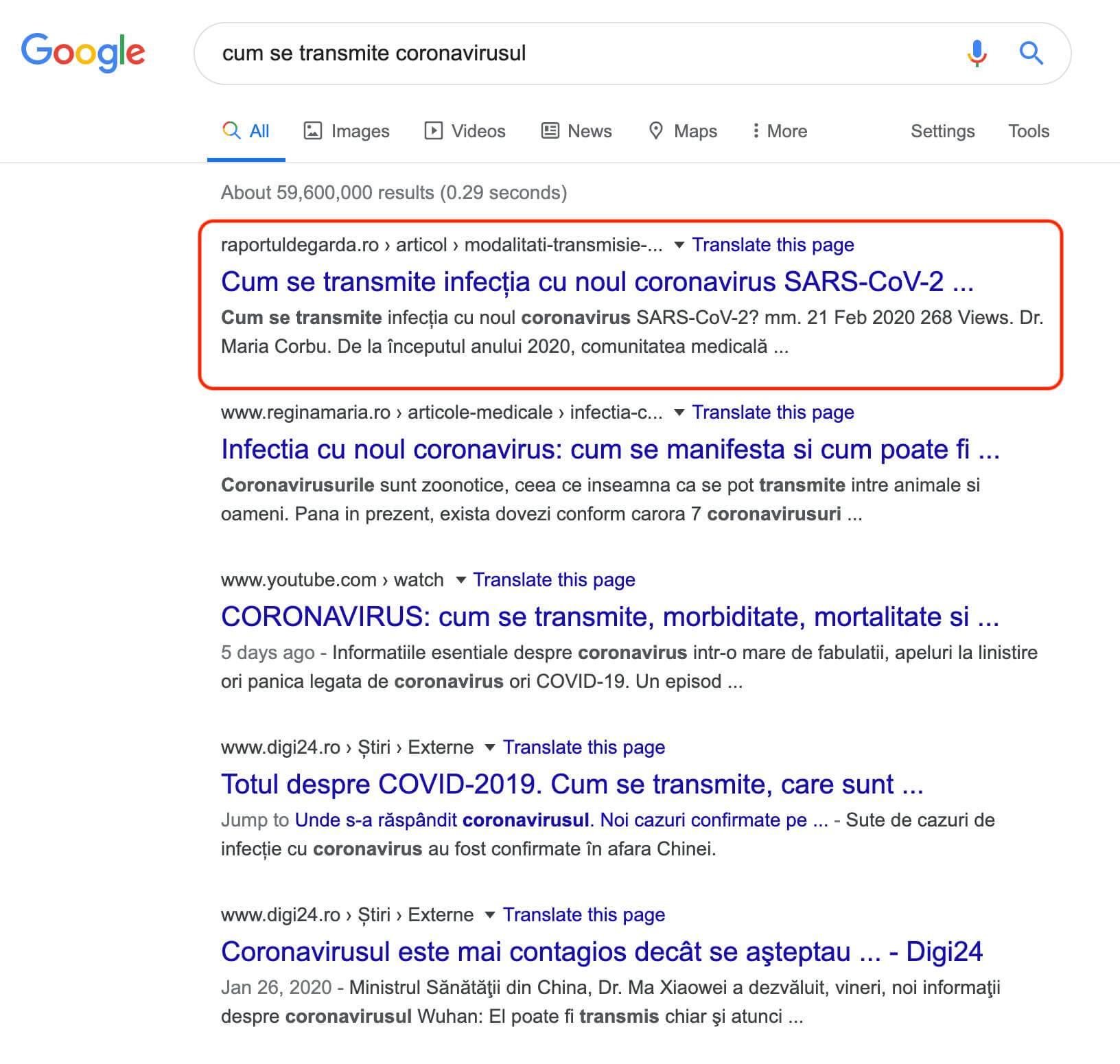 Cum se transmite coronavirusul, căutări Google