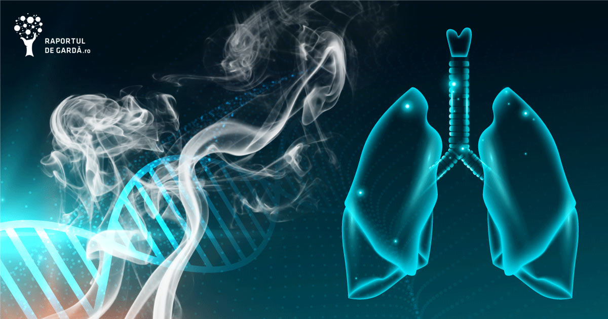 Structură ADN și plămâni, fum de țigară