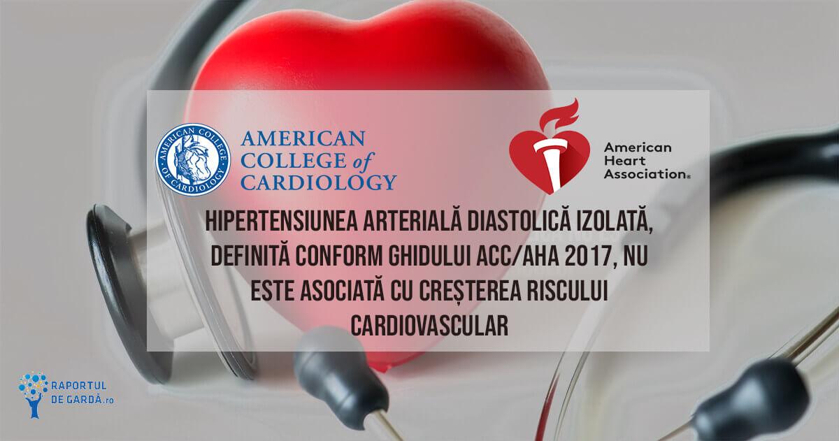 Ghid ACC/AHA 2017 hipertensiune diastolică izolată