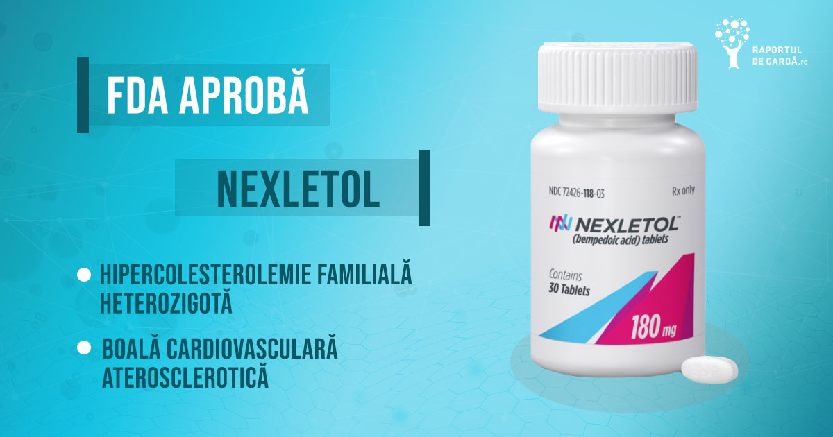 Nexletol utilizat în hipercolesterolemia familială heterozigotă