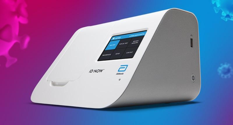 Sistemul ID NOW Abbott, care analizează probele respiratorii și conduce la diagnosticul de COVID-19 în mod rapid