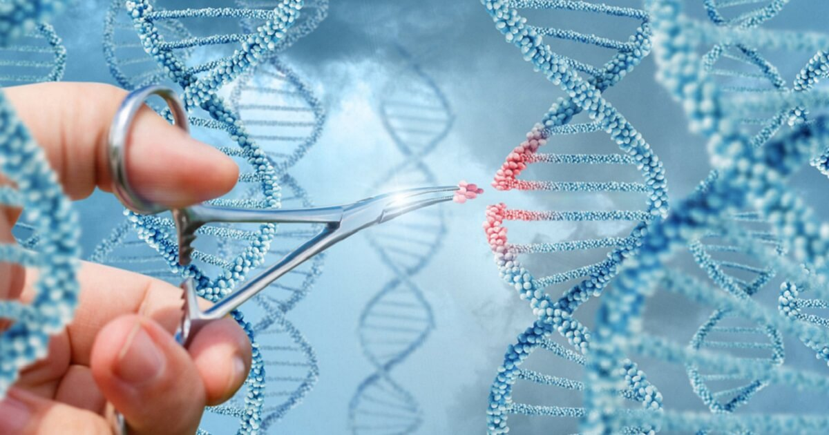 tehnologie de editare genomică - pensă chirurgie extrage fragment din ADN