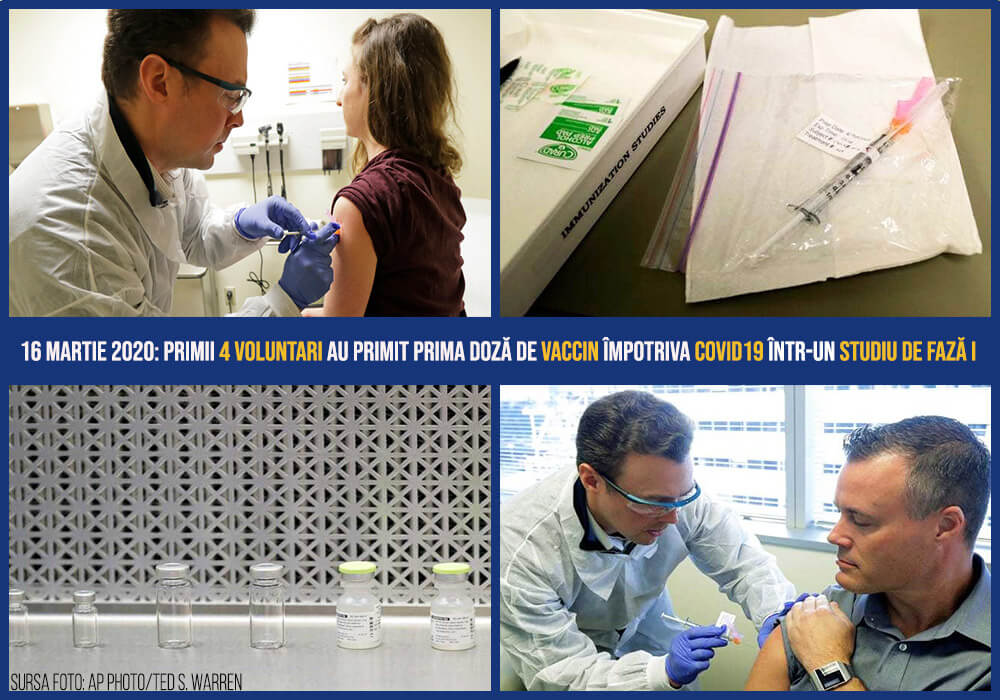 Imagini cu voluntarii din Seattle care au primit primele doze de vaccin mRNA-1273
