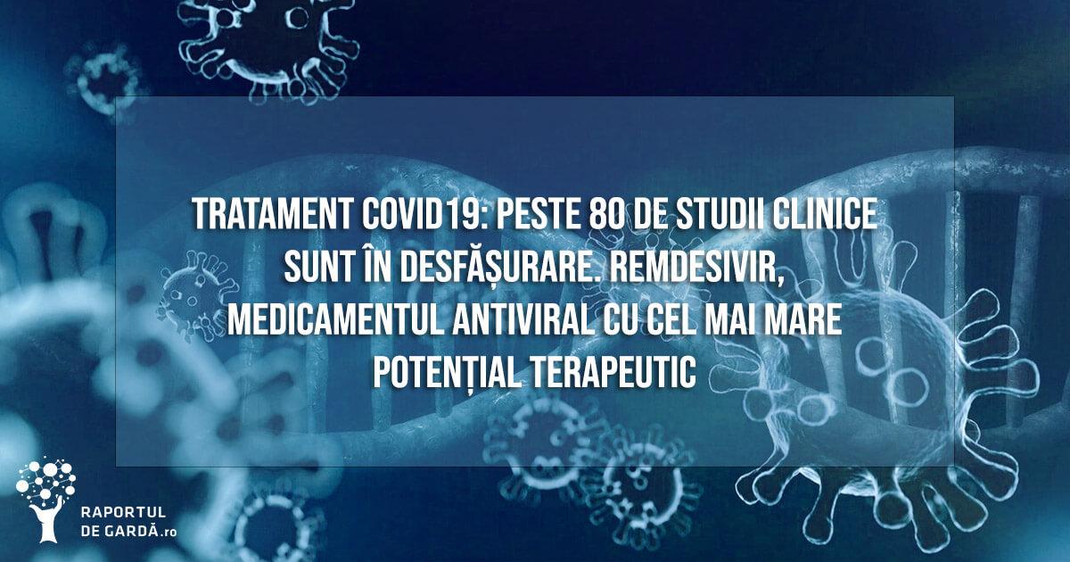tratament coronavirus studii clinice molecule potențiale