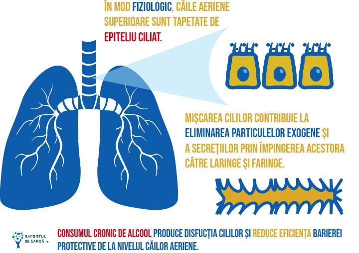 Coronavirus consum alcool cili plamani