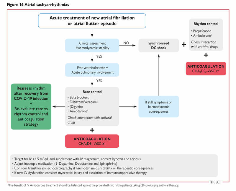 escardio tratament tahicardii atriale covid19