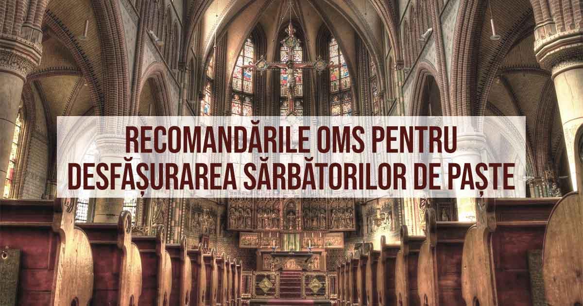 Recomandări OMS, organizații religioase pentru desfășurarea Sărbătorii de Paște în contextul pandemiei COVID19