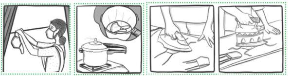 Metode refolosire măști artizanale.