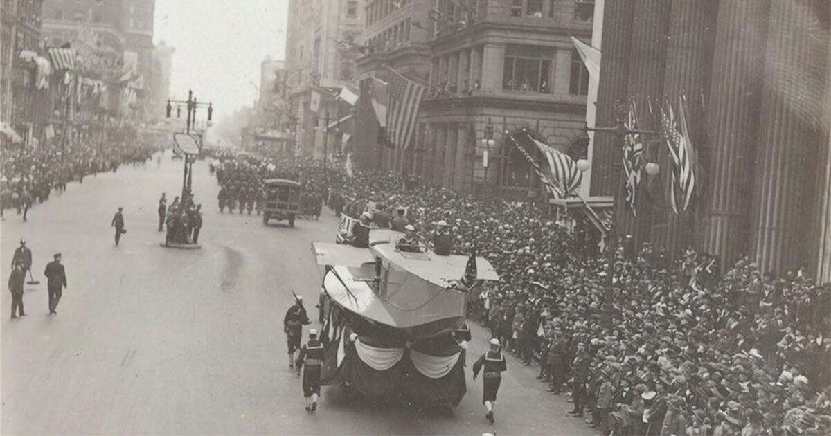 Parada din orașul Philadelphia, din timpul pandemiei de gripă spaniolă din 1918
