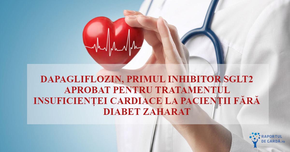 Dapagliflozin aprobat de FDA pentru insuficiența cardiacă
