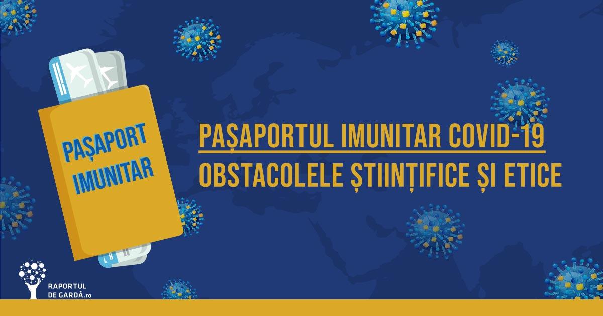 pașaport de imunitate COVID19 SARSCoV2