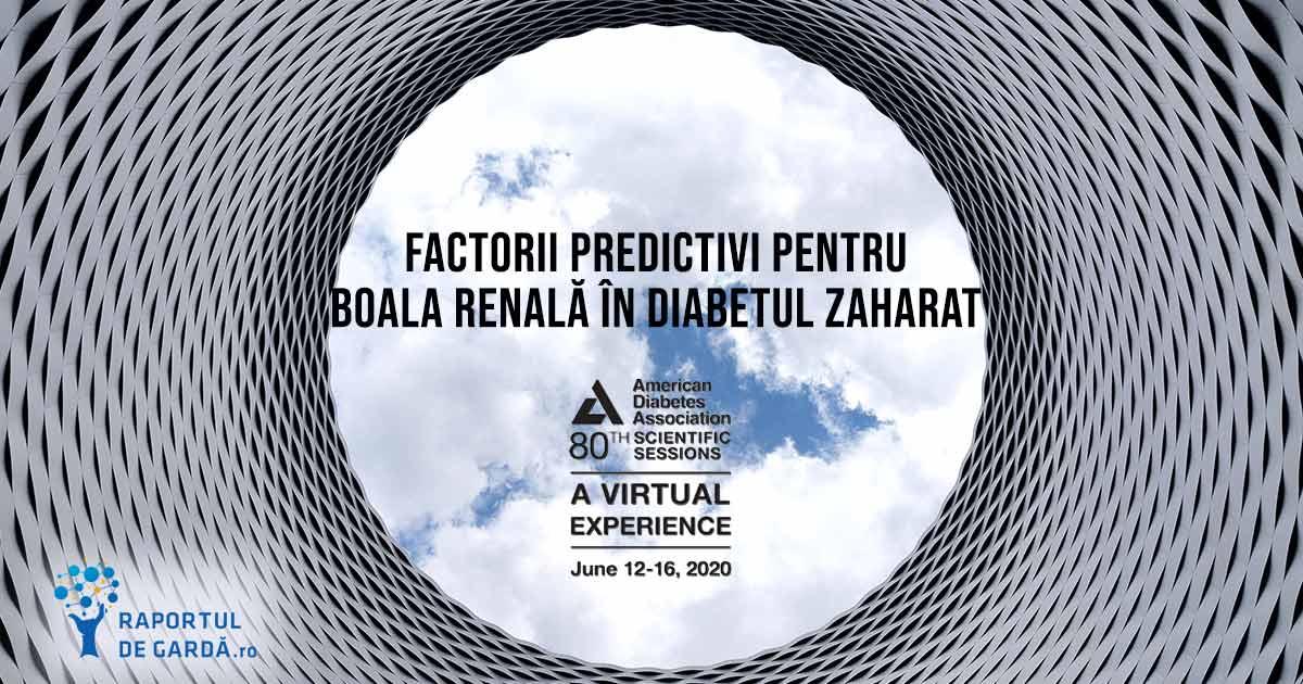 ADA20 diabet zaharat tip 2 boală renală terminală model predictiv