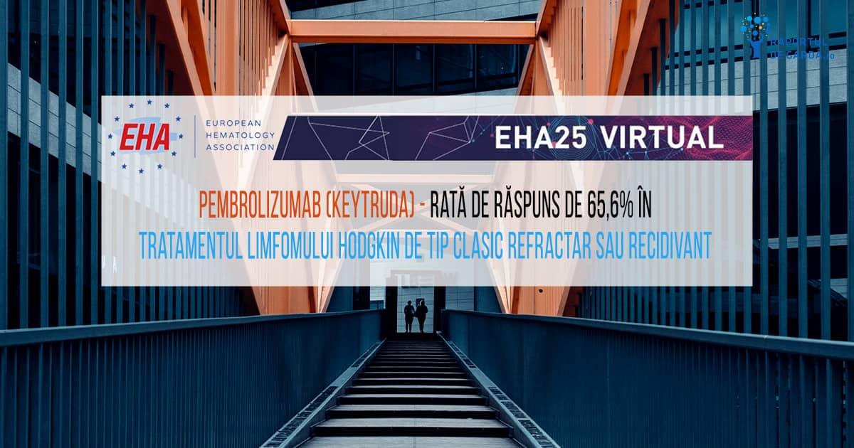 #EHA25 EHA2020 HemaSphere Pemrolizumab în LH recidivant refractar