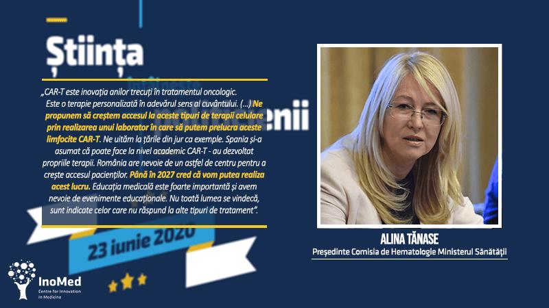 Dr. Alina Tănase, despre terapiile CAR-T
