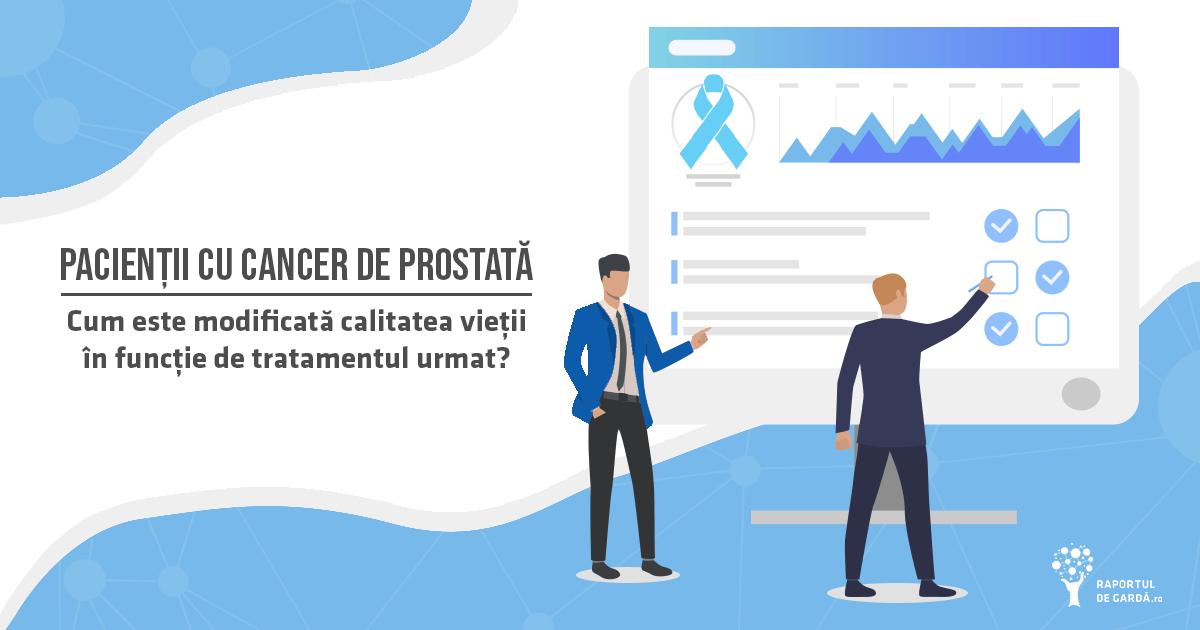 Modificarea calitatii vietii pacientilor cu cancer de prostata in functie de tratament