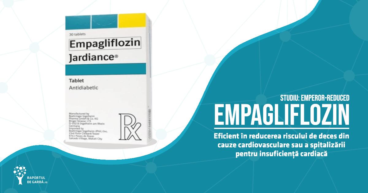 Empagliglozin reduce riscul de deces din cauze cardiovasculare