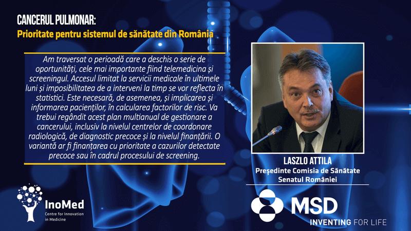Laszlo Attila Comisia Sănătate Senatul României Cancerul Pulmonar Prioritate pentru Sistemul de Sănătate din România Dezbatere Online 29 iunie Cluj