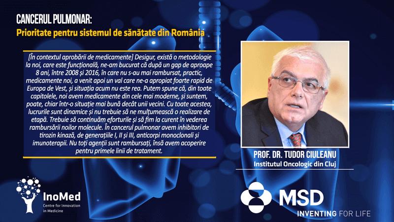 Prof. Dr. Tudor Ciuleanu, Institut Oncologic Cluj, Cancerul Pulmonar Prioritate pentru Sistemul de Sănătate din România Dezbatere Online 29 iunie Cluj