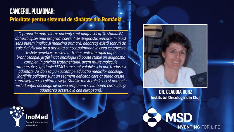 Dr. Claudia Burz, Oncologie, Institut Oncologic Cluj Cancerul Pulmonar Prioritate pentru Sistemul de Sănătate din România Dezbatere Online 29 iunie Cluj