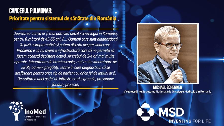 Dr. Michael Shenker, situația cancerului pulmonar în Oltenia