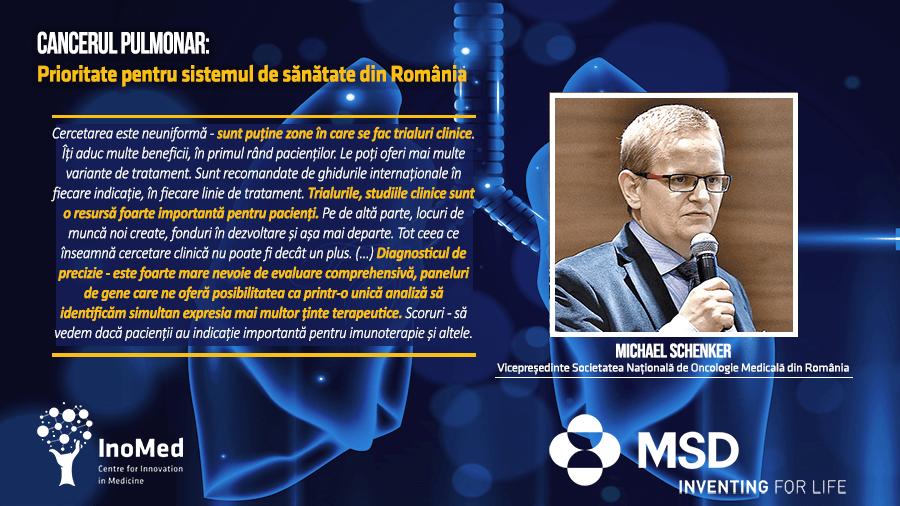 Dr. Michael Shenker, diagnosticul de precizie al cancerului pulmonar