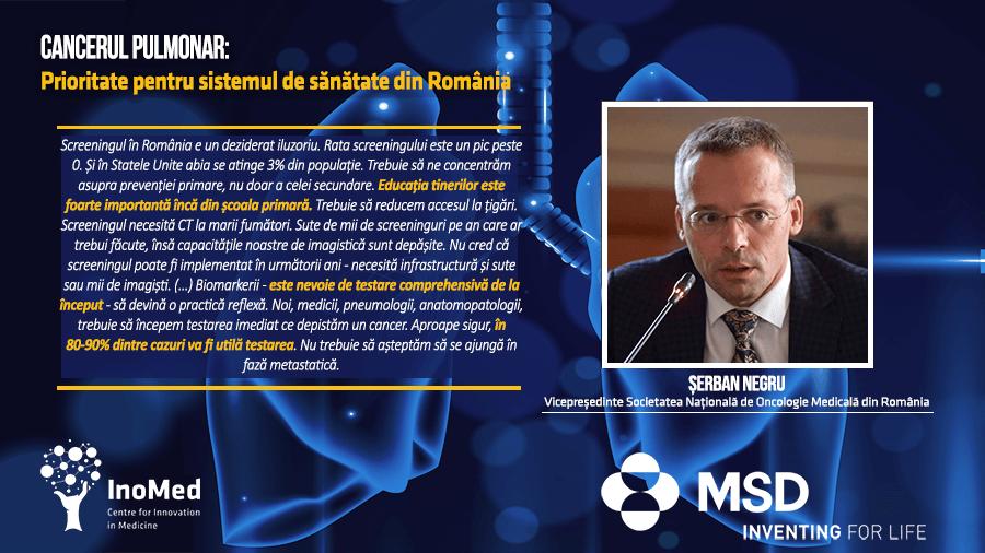Conf. Dr. Serban Negru, despre cancerul pulmonar