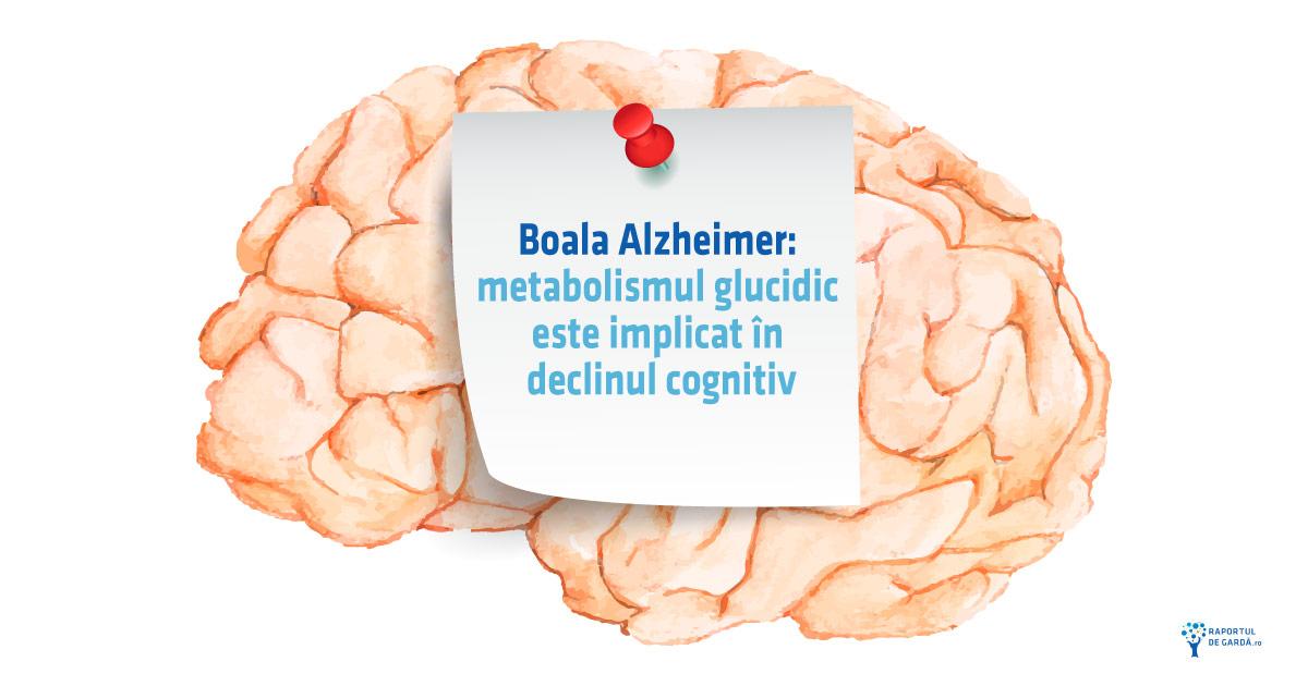 Boala Alzheimer metabolism glucidic