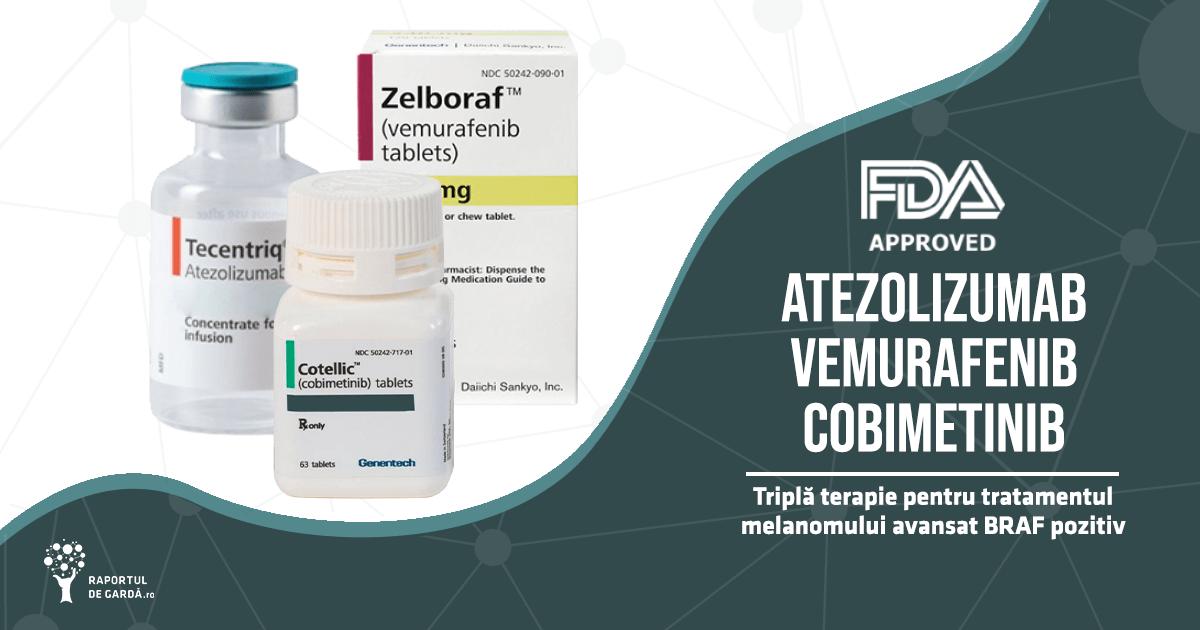 FDA aprobă atezolizumab, cobimetinib și vemurafenib