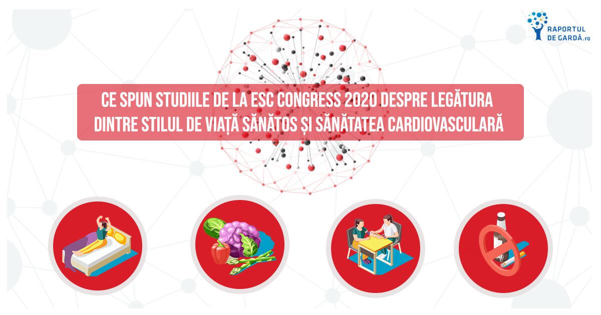 CE SPUN STUDIILE de la ESC Congress 2020 despre legătura dintre stilul de viață sănătos și sănătatea cardiovasculară