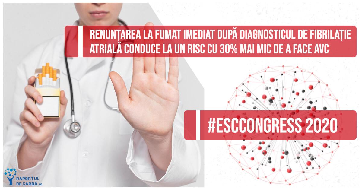 ESCCongress 2020 riscul fumatului în rândul pacienților cu fibrilație atrială