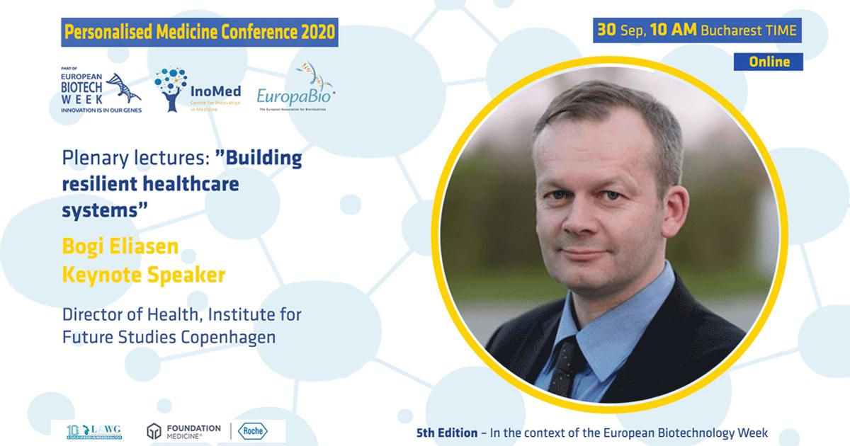 Săptămâna Europeană Biotech, ediția a 5-a Conferinței de Medicină Personalizată Bogi Eliasen