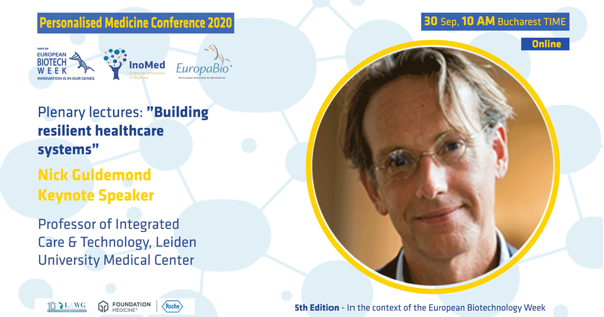 Săptămâna Europeană Biotech, ediția a 5-a Conferinței de Medicină Personalizată Nick Guldemond