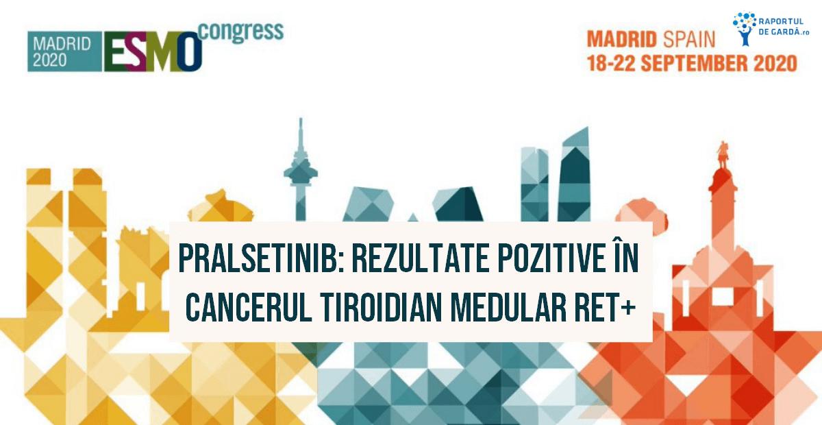 ESMO 2020 feature pralsetinib cancer medular tiroidian mutația RET
