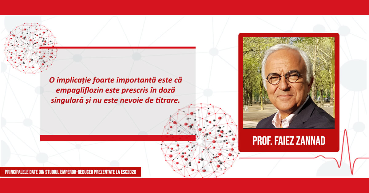 Prof. Dr. Faiez Zannad, co-autor al studiului EMPEROR-Reduced