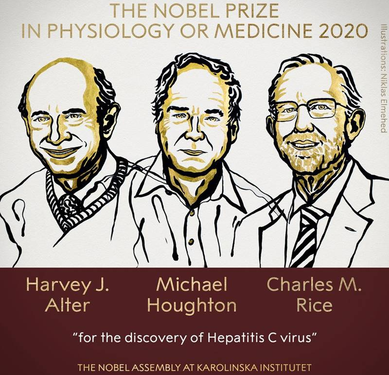 Cei trei laureați ai Premiului Novel pentru Medicină sau Fiziologie 2020: Descoperirea virusului hepatitic C