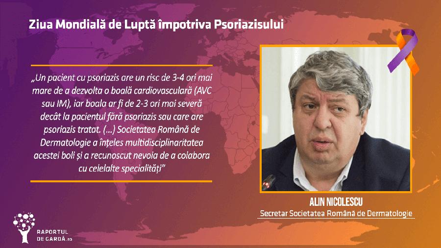Dr. Alin Nicolescu la evenimentul dedicat Zilei Mondiale a Psoriazisului