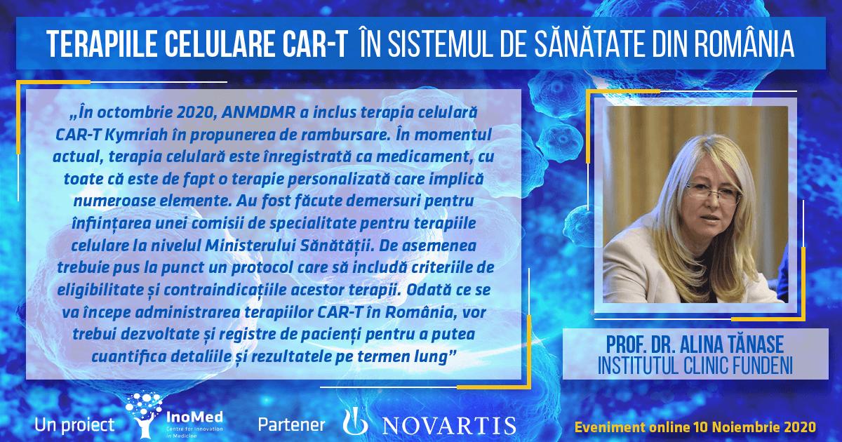 Prof. Alina Tănase, declarație terapiile CAR-T în România