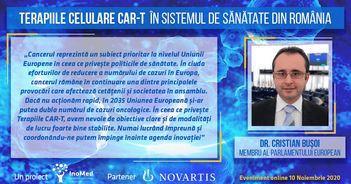 Dr. Cristian Bușoi, declarație terapiile Car-t în România
