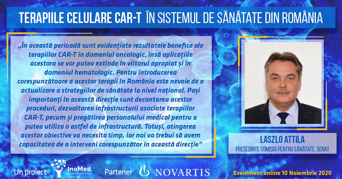 Dr. Laszlo Attila, declarație terapiile CAR-T în România