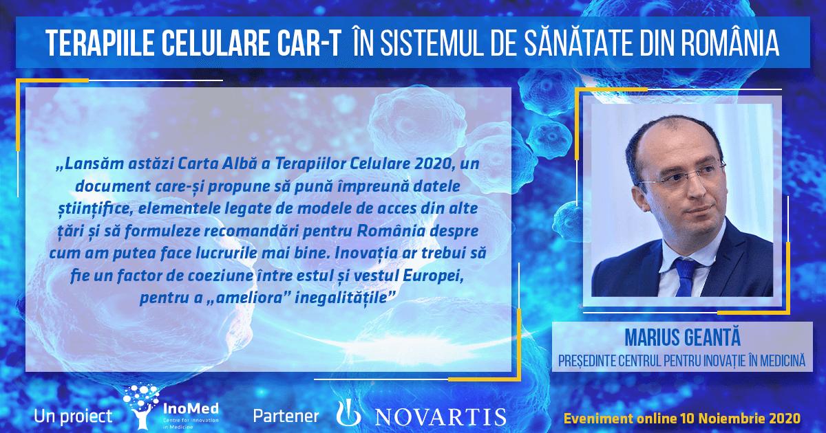 Dr. Marius Geantă, declarație terapiile CAR-T în România