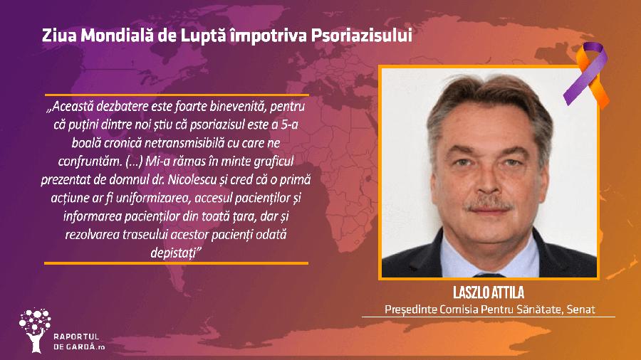Dr. Laszlo Attila la evenimentul dedicat Zilei Mondiale a Psoriazisului